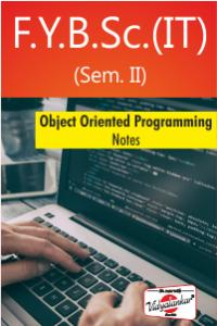 Object Oriented Programming: Notes